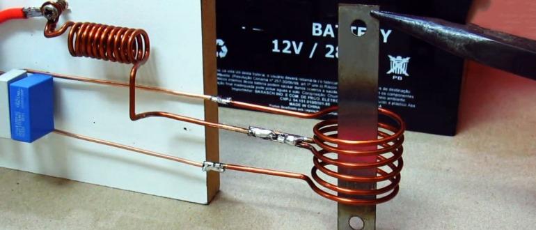 индукционный нагреватель из микроволновки