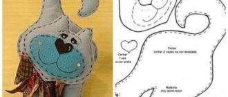 выкройки мягких игрушек из фетра и текстиля